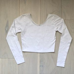 Tight Fitted White Crop Top